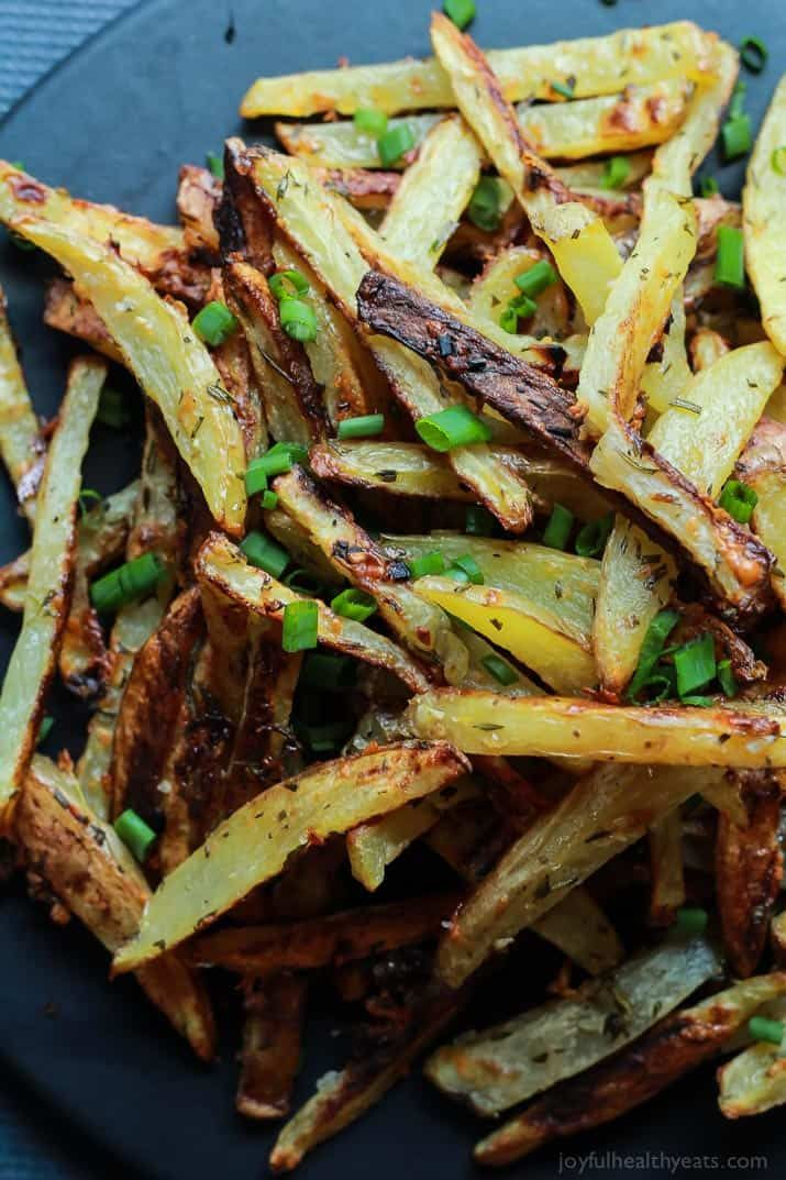 These Crispy Baked Garlic Parmesan Fries are crispy on the outside and soft on the inside. They're