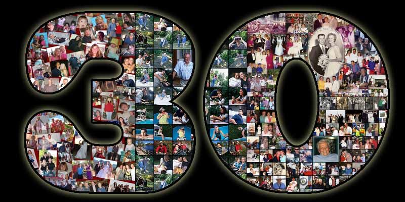 30th birthday collage for the 30 year old wife good gift