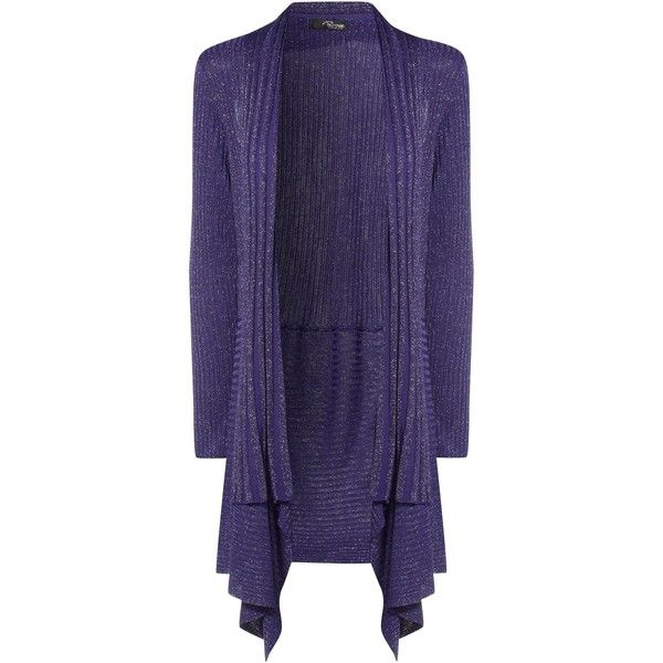 8cf92c5712d Jane Norman Purple Sparkle Waterfall Cardigan ( 25) ❤ liked on Polyvore  featuring tops