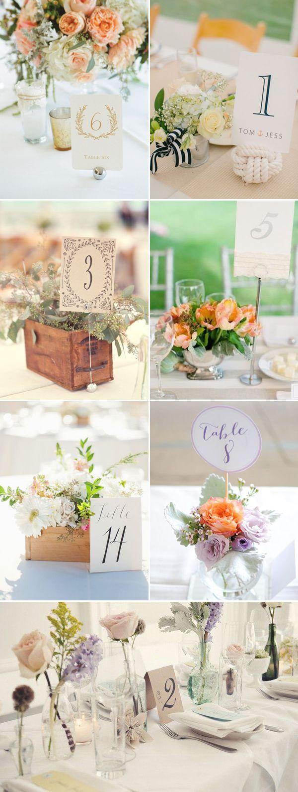 43 Creative DIY Wedding Table Number Ideas | Diy wedding table ...