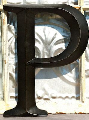 Initial Wall Decor wall letter p/ sign letter / wall decor/ oil rubbed bronze initial