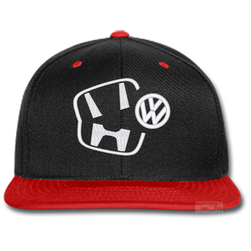 HONDA EATING VOLKSWAGEN EMBROIDERED beanie or SNAPBACK hat Template 5a6b45de161