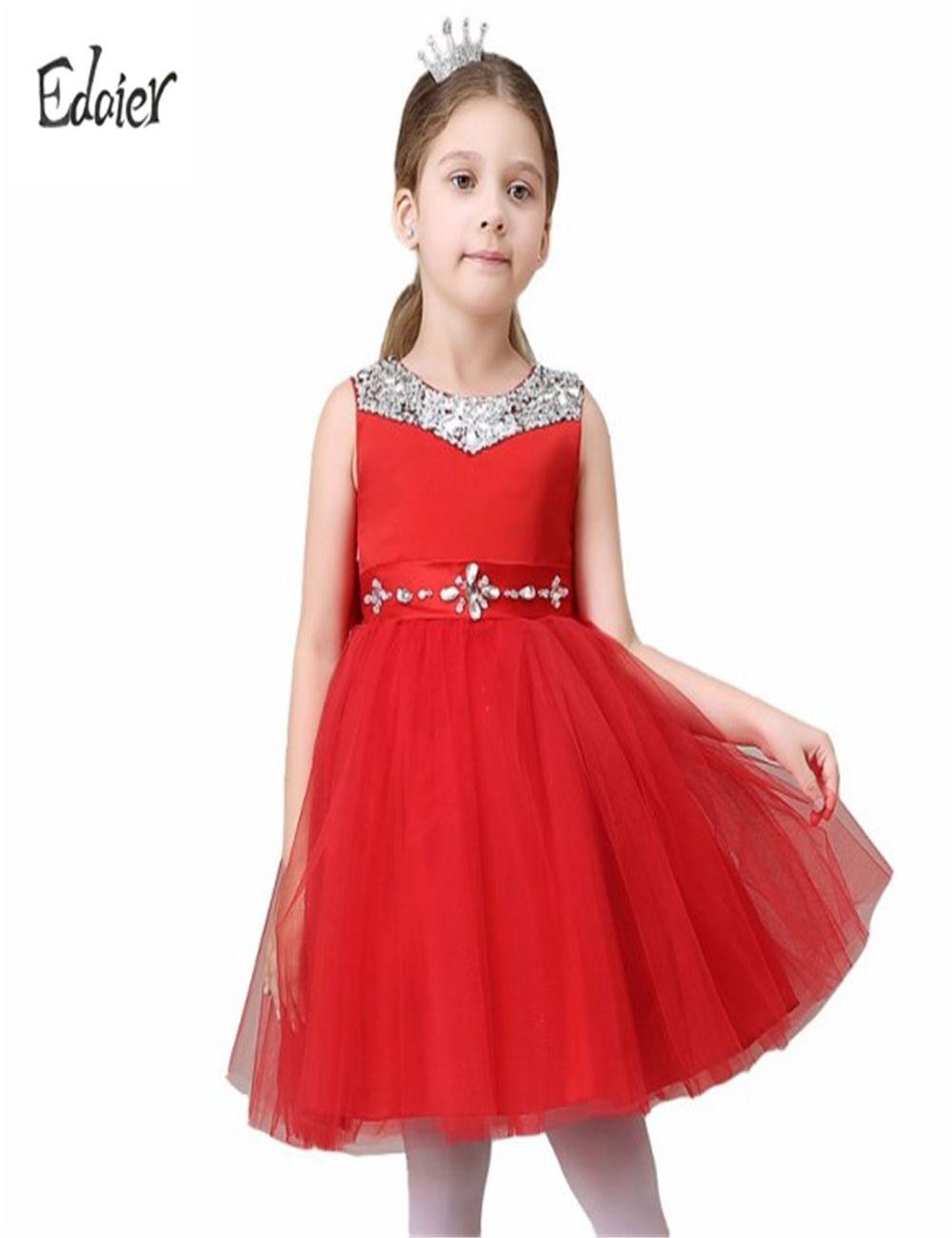 Click to buy ucuc kids girls bride flower girl dress edaier princess