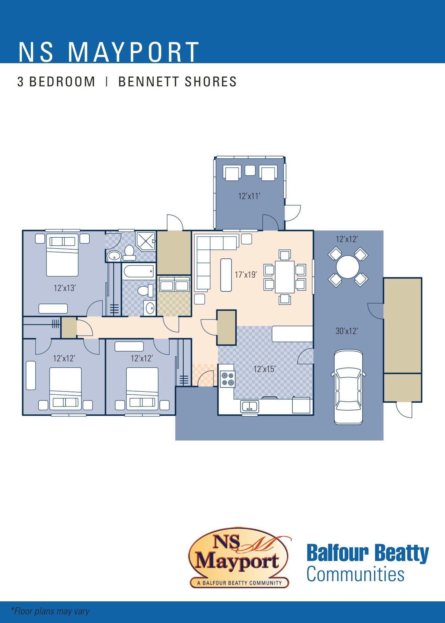 nsa naples u2013 parco baldascino neighborhood 3 bedroom floor plan