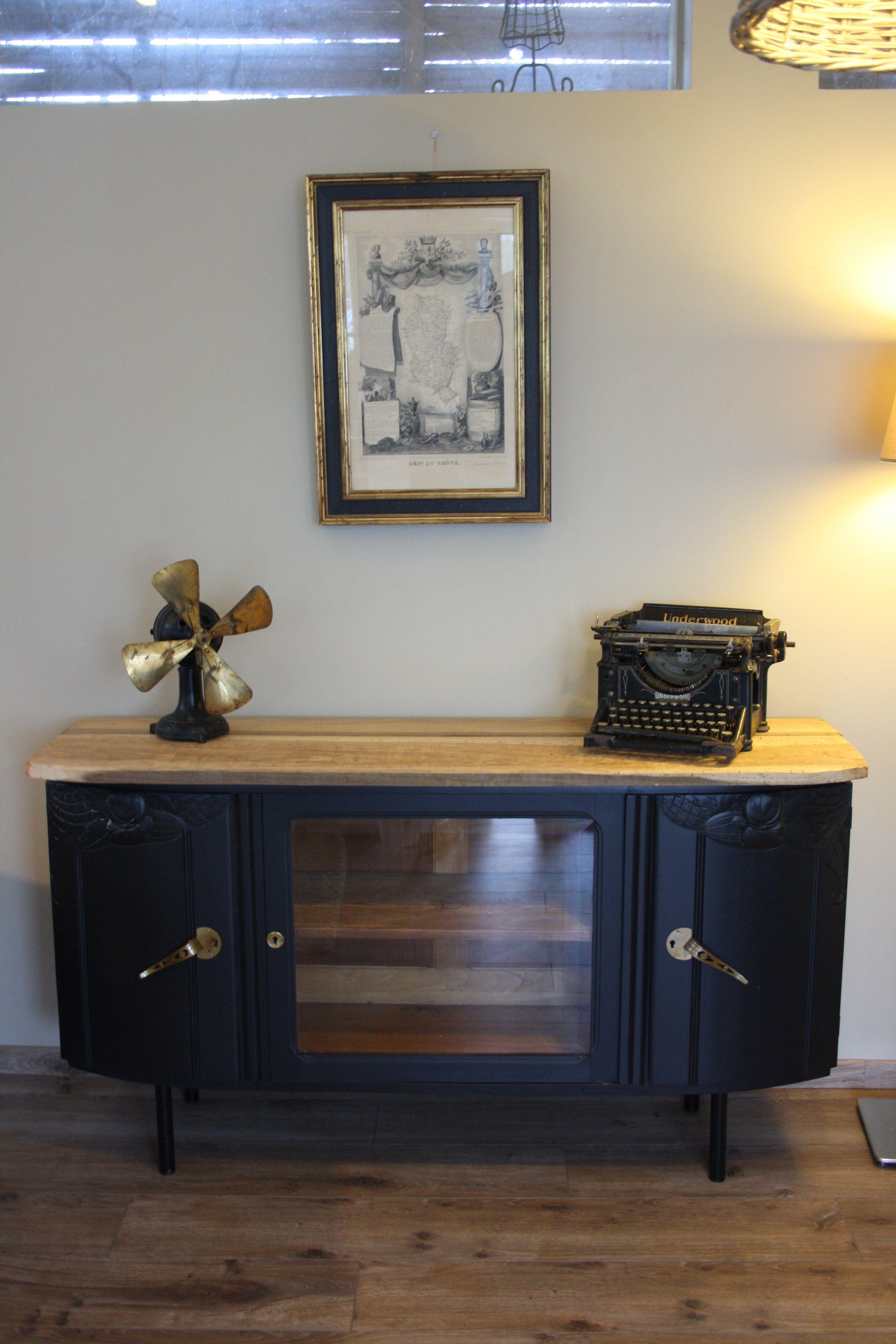 Creation D Une Console Avec Un Haut De Buffet Ancien Mobilier De Salon Relooking De Mobilier Relooking Meuble