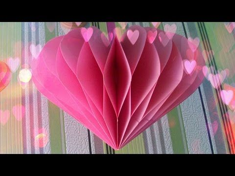 DIY Crafts - Paper Heart Design Valentine\'s Day and Room Decor ...