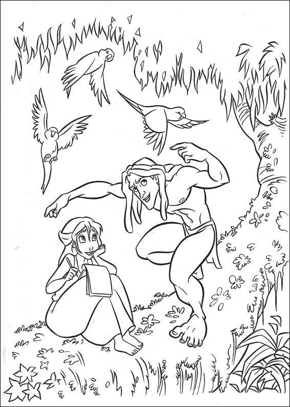 Tarzan Målarbilder för barn. Teckningar online till skriv ut. Nº 12 ...