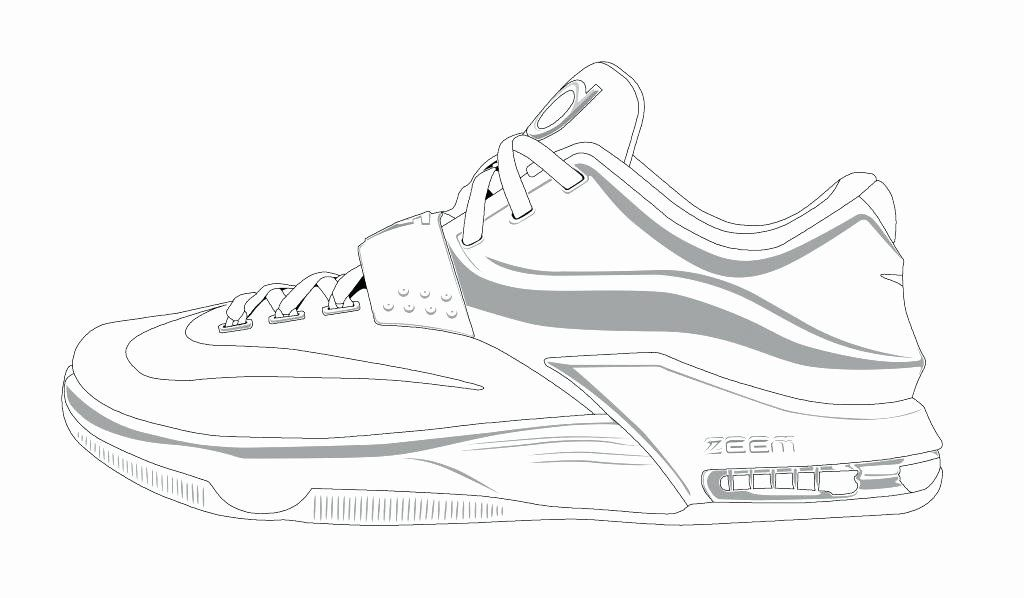 Tennis Shoe Coloring Page Elegant Exciting Running Shoe Coloring Page Nike Ace In 2020 Shoe Template Pictures Of Jordans Sneakers