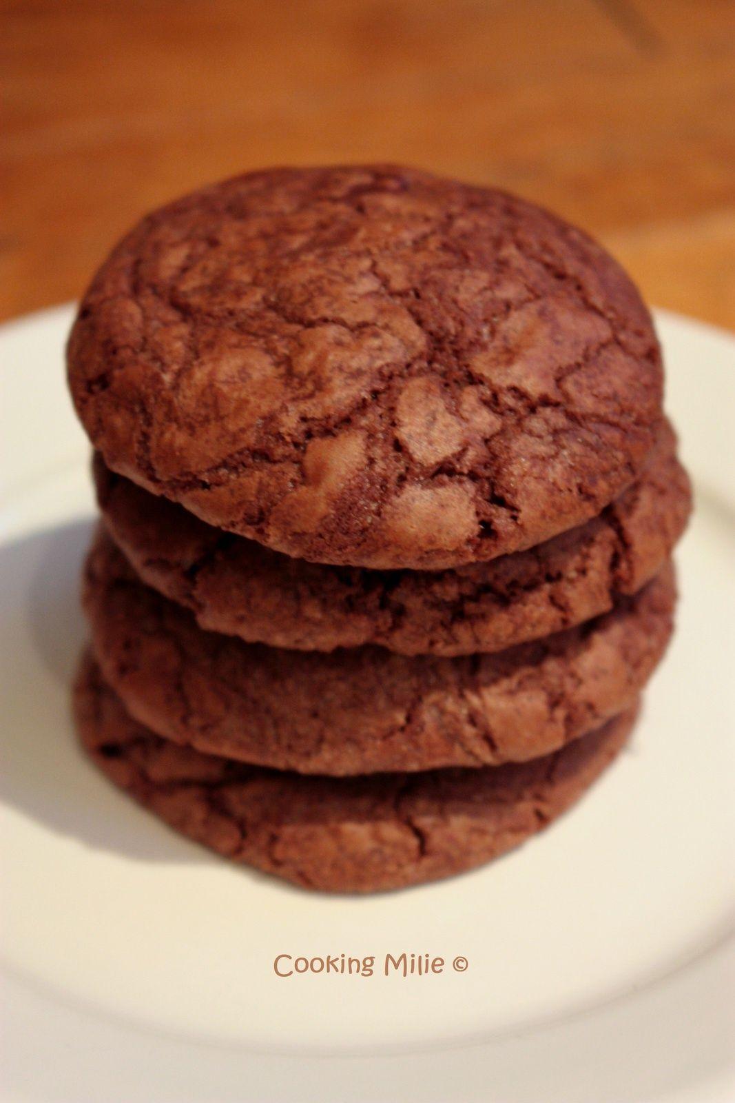 Cookies triple chocolat   Cookies et biscuits, Chocolat ...
