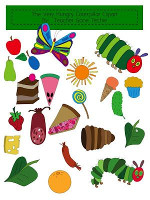 clipart for the very hungry caterpillar language arts pinterest rh pinterest com Eric Carle Butterfly Eric Carle Animals