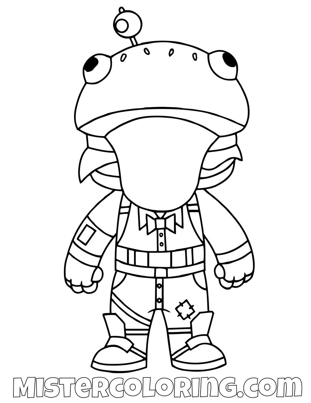 Free Durr Burger Chibi Skin Fortnite Coloring Page For Kids