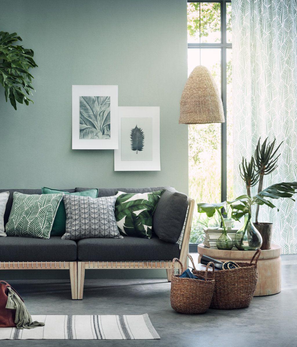 gemusterte kissenh lle anthrazit home h m de beistelltisch unser haus pinterest. Black Bedroom Furniture Sets. Home Design Ideas