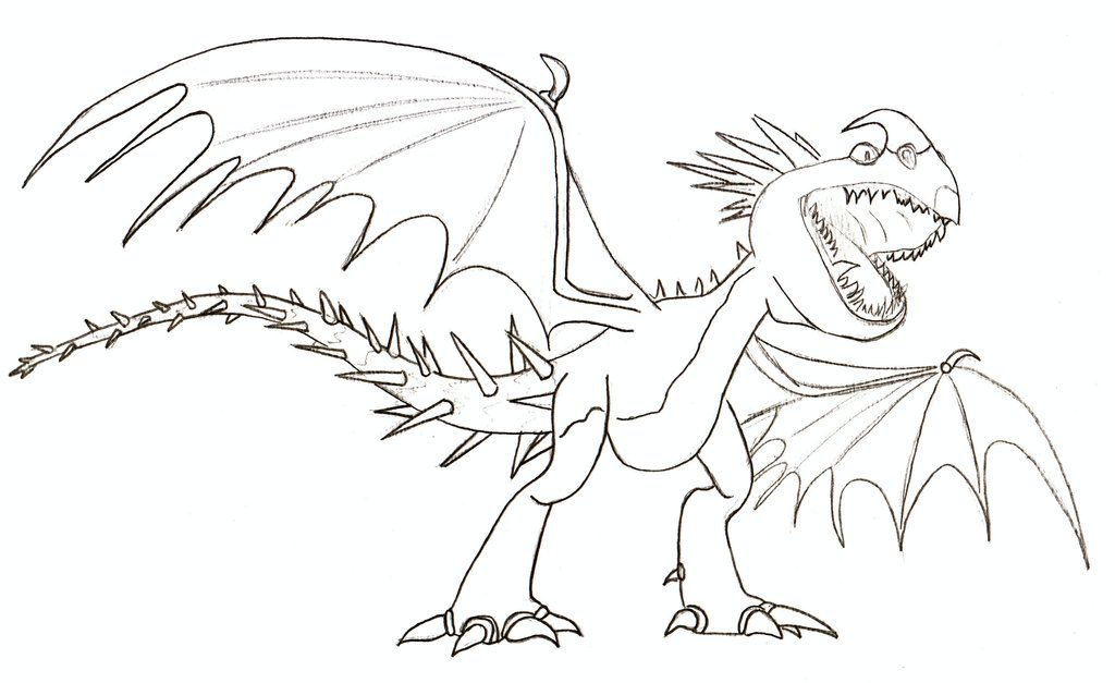Amazing How To Train Your Dragon Deadly Nadder Coloring Pages