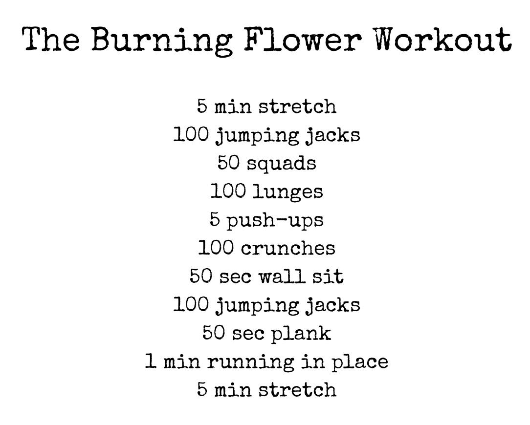 Can burn up to 150 kcal and takes about 20 min.