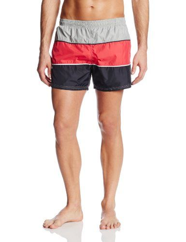 7c467380c2 BOSS HUGO BOSS Mens Innovation 22 Butterfly 42 Inch Swim Trunk  WhiteRedBlack Large * Offer can be found by clicking the VISIT button