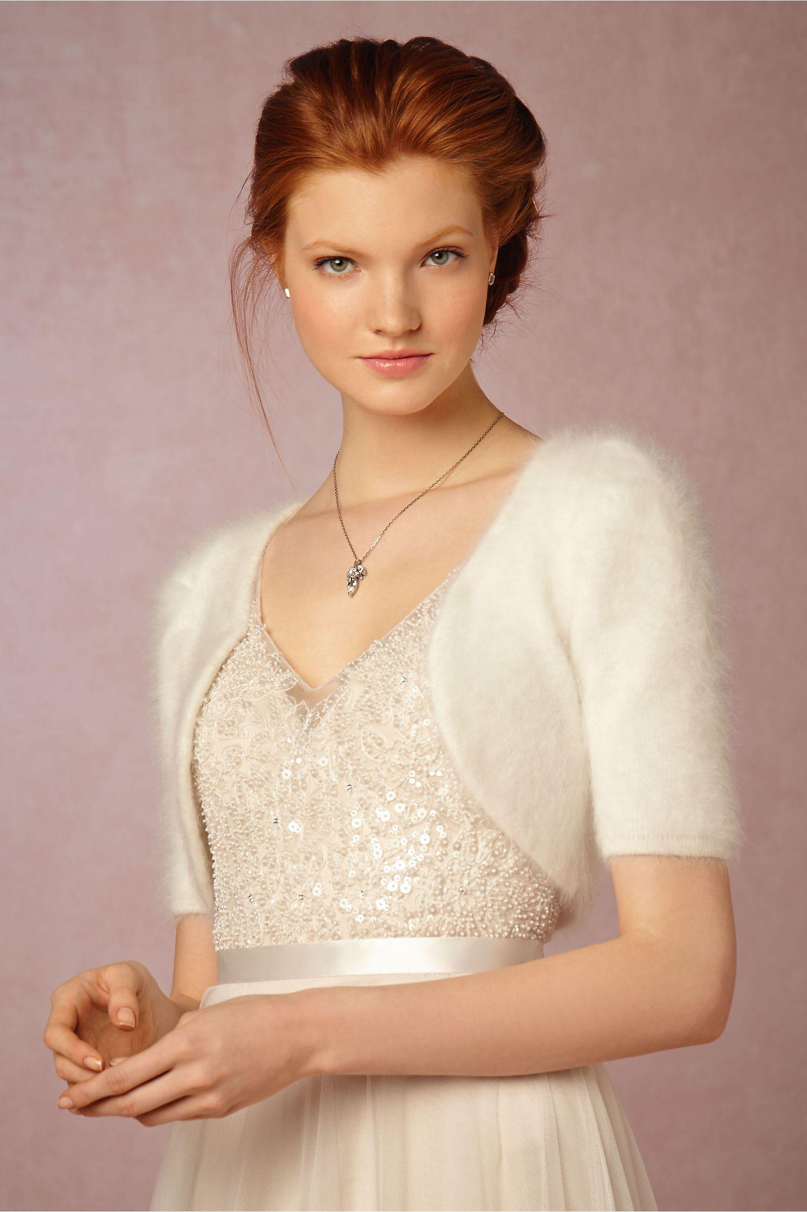 winter bridal cover up Vivi Bolero from BHLDN Winter