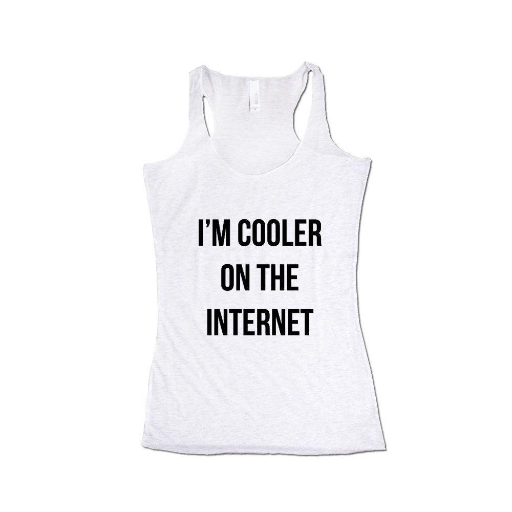 I'm Cooler On The Internet Internet Nerd Computers Nerds Signal Online Connection Programmer Programming SGAL8 Women's Racerback Tank