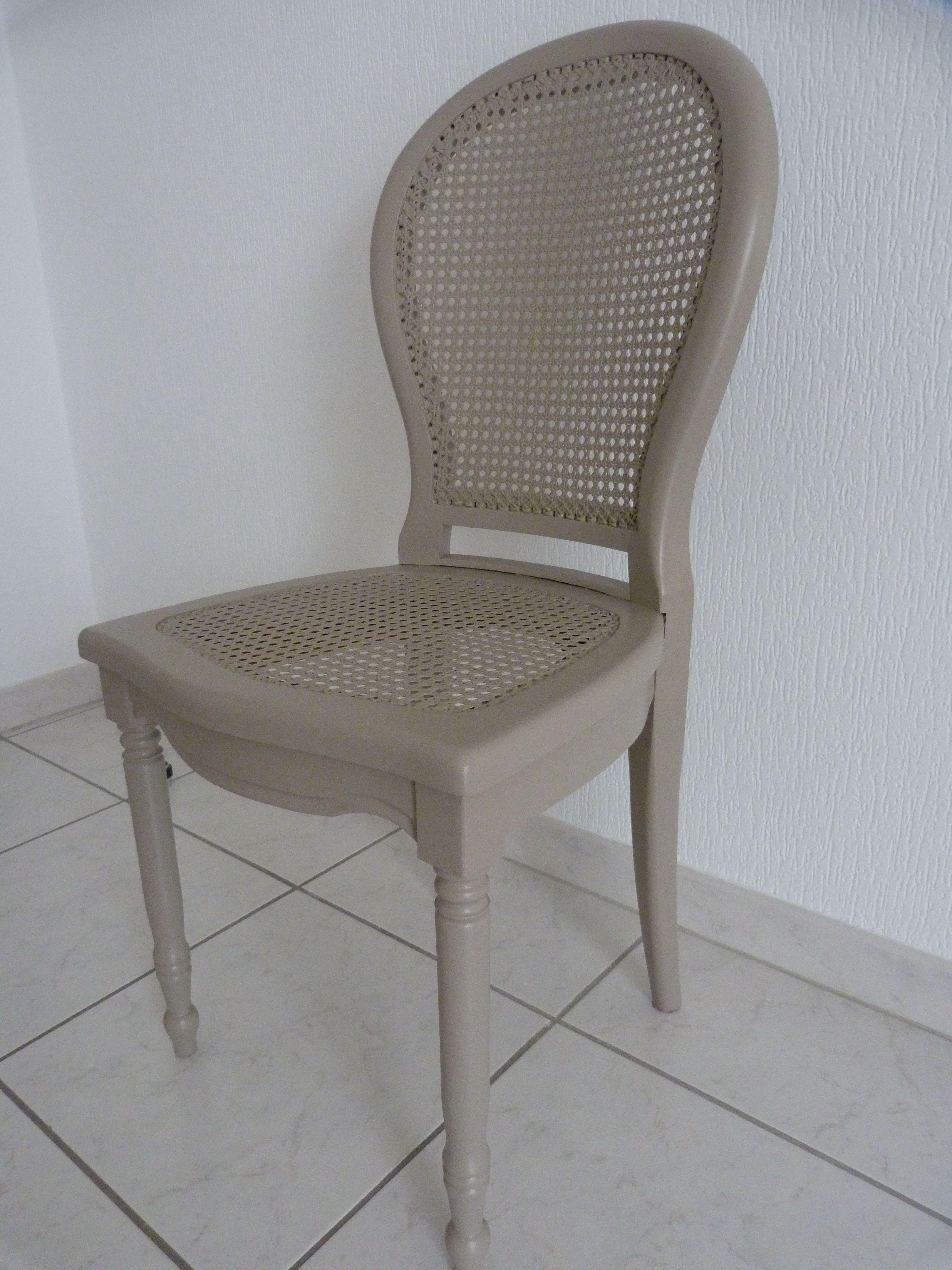 chaise louis philippe cannee repeinte