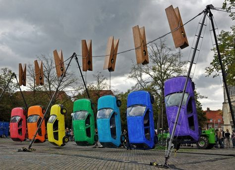 'Hung Out to Dry' by Generik Vapeur: Street art installation from the 2011 International Arts Festival