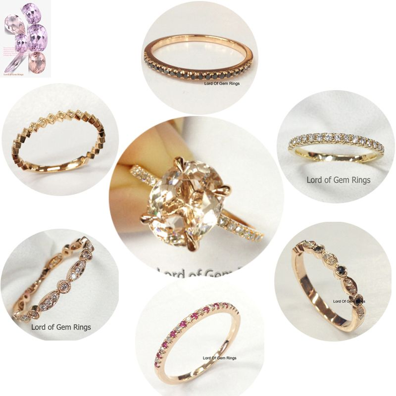 logr different the for engagement available many each bands matching morganite pin rings ring
