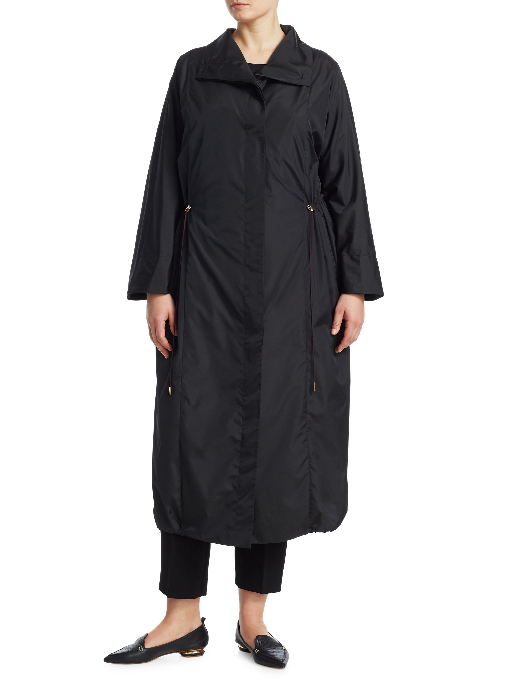 e9601ec2f0c Long Taffeta Raincoat by Marina Rinaldi