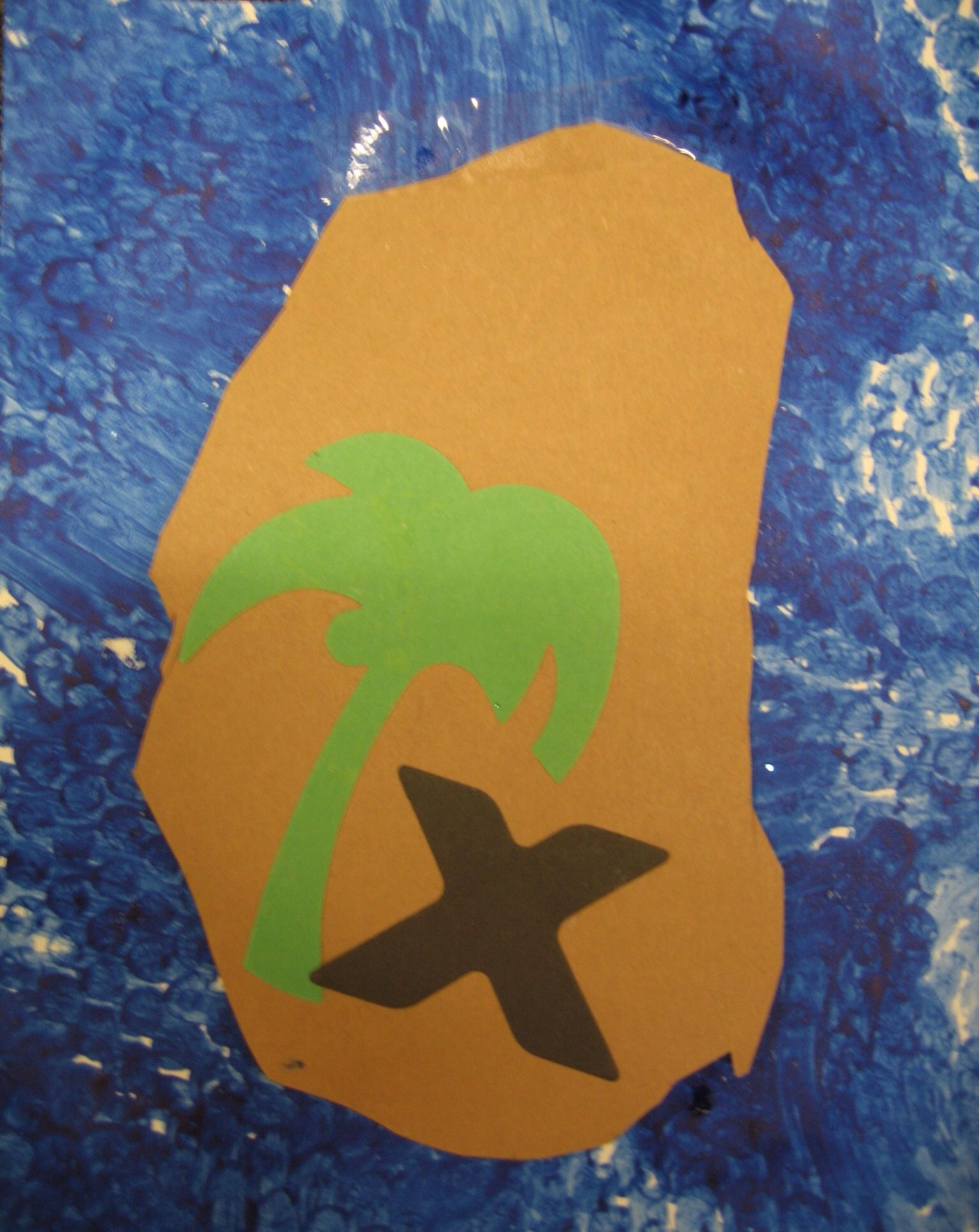 Letter X Marks The Spot Treasure Map There Is A Plastic