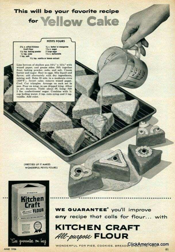 1956 Yellow Cake Recipe