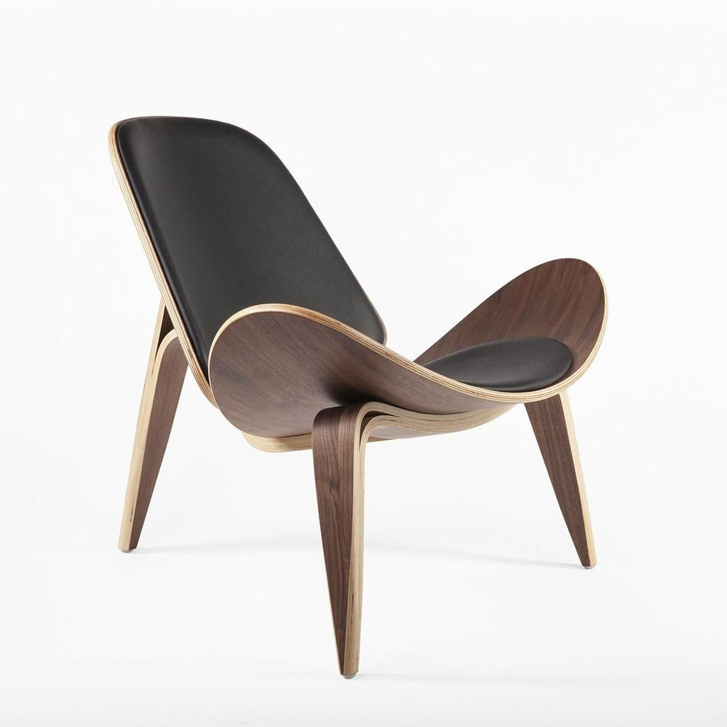 Mid Century Modern Reproduction Ch07 Shell Chair Black Inspired