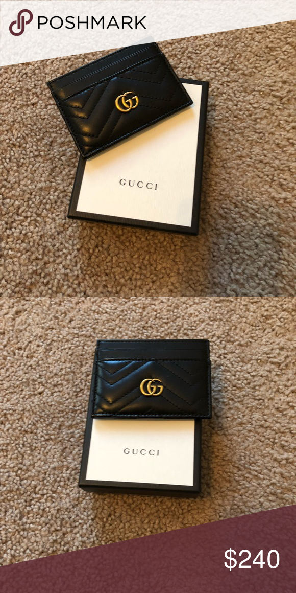 0465dfda12bf Gucci card holder Black and gold card holder Gucci Bags Wallets   My ...