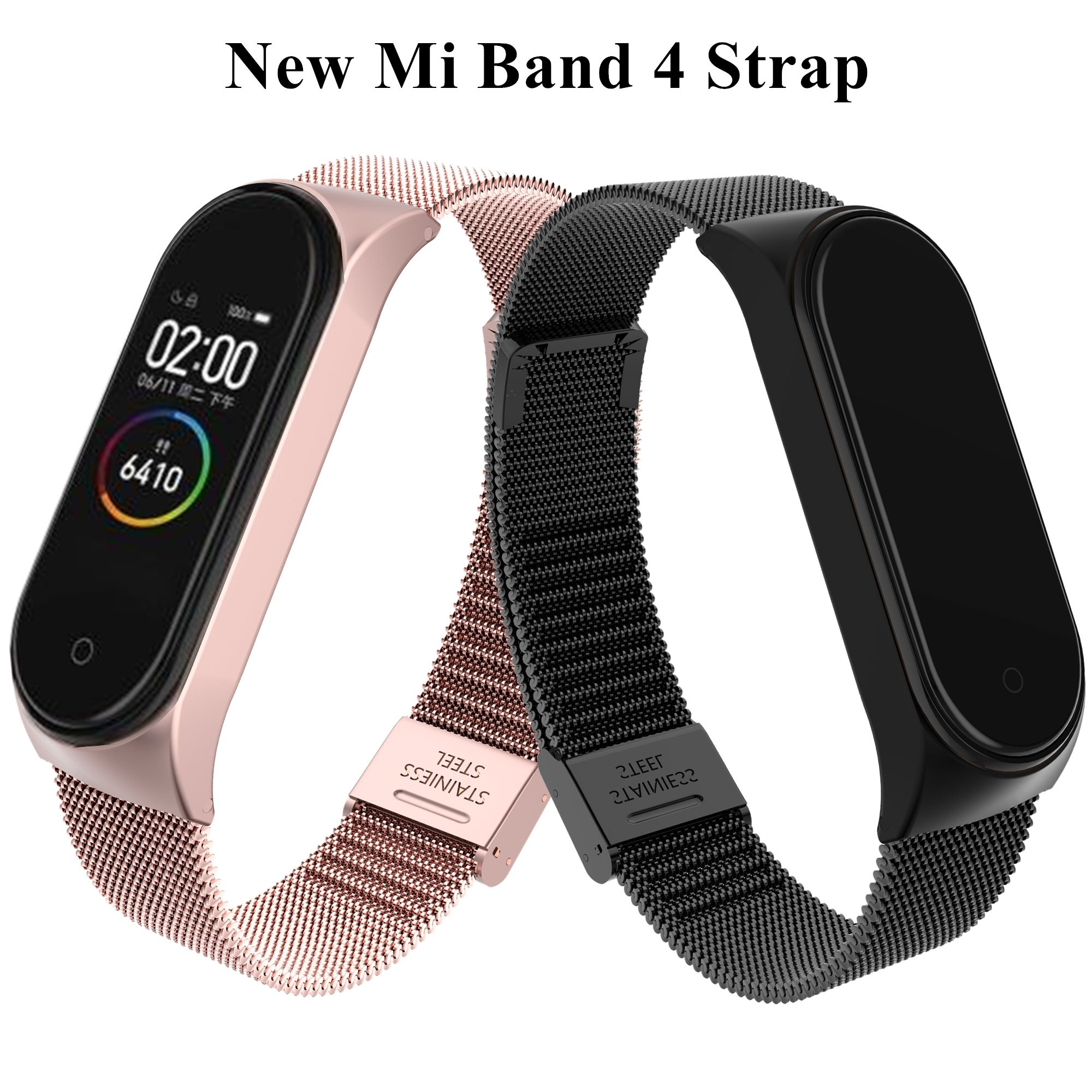 Cheap Accesorios Inteligentes Buy Directly From China Suppliers Pulsera Mi Band 4 Correa De Muñeca De M Pulseras De Acero Inoxidable Pulseras Baratas Pulseras