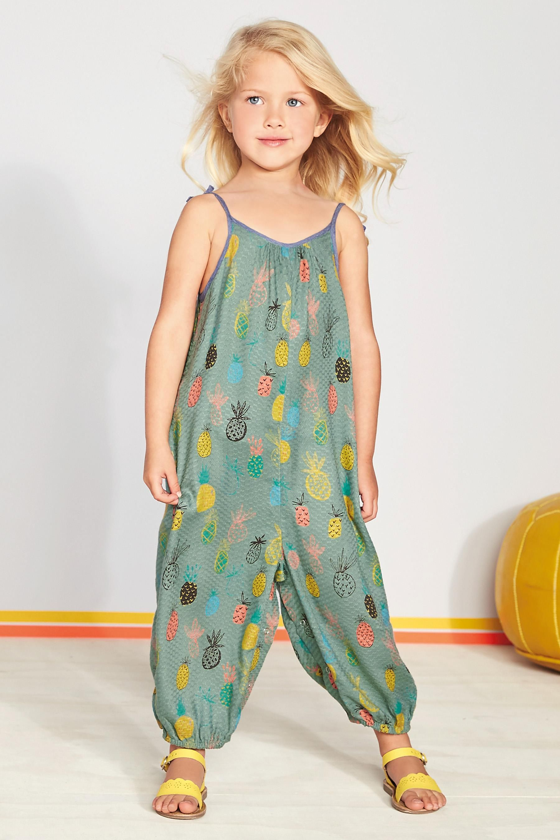 1aa813947da Buy Teal Pineapple Print Playsuit (3mths-6yrs) from the Next UK online shop