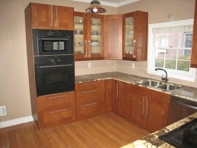 ikea grimslov cabinets with brown interior - Google Search we - ikea küchen bilder