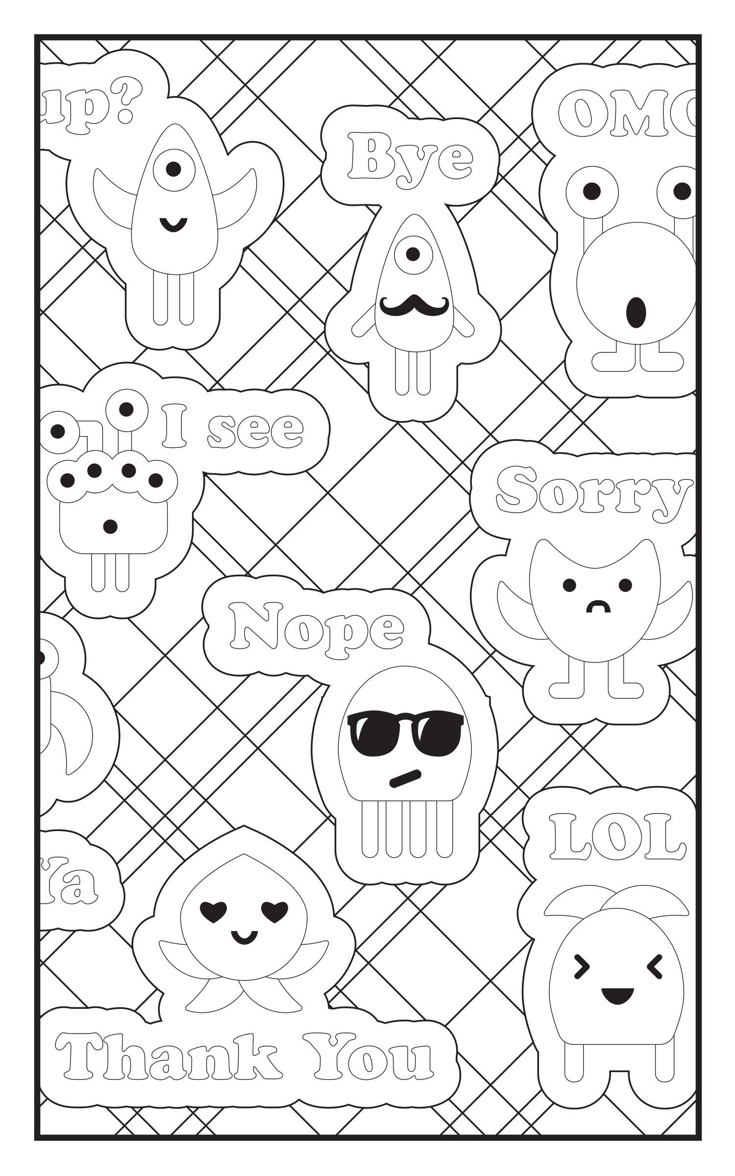 Amazon.com: Emoji Crazy Coloring Book 30 Cute Fun Pages: For Adults ...