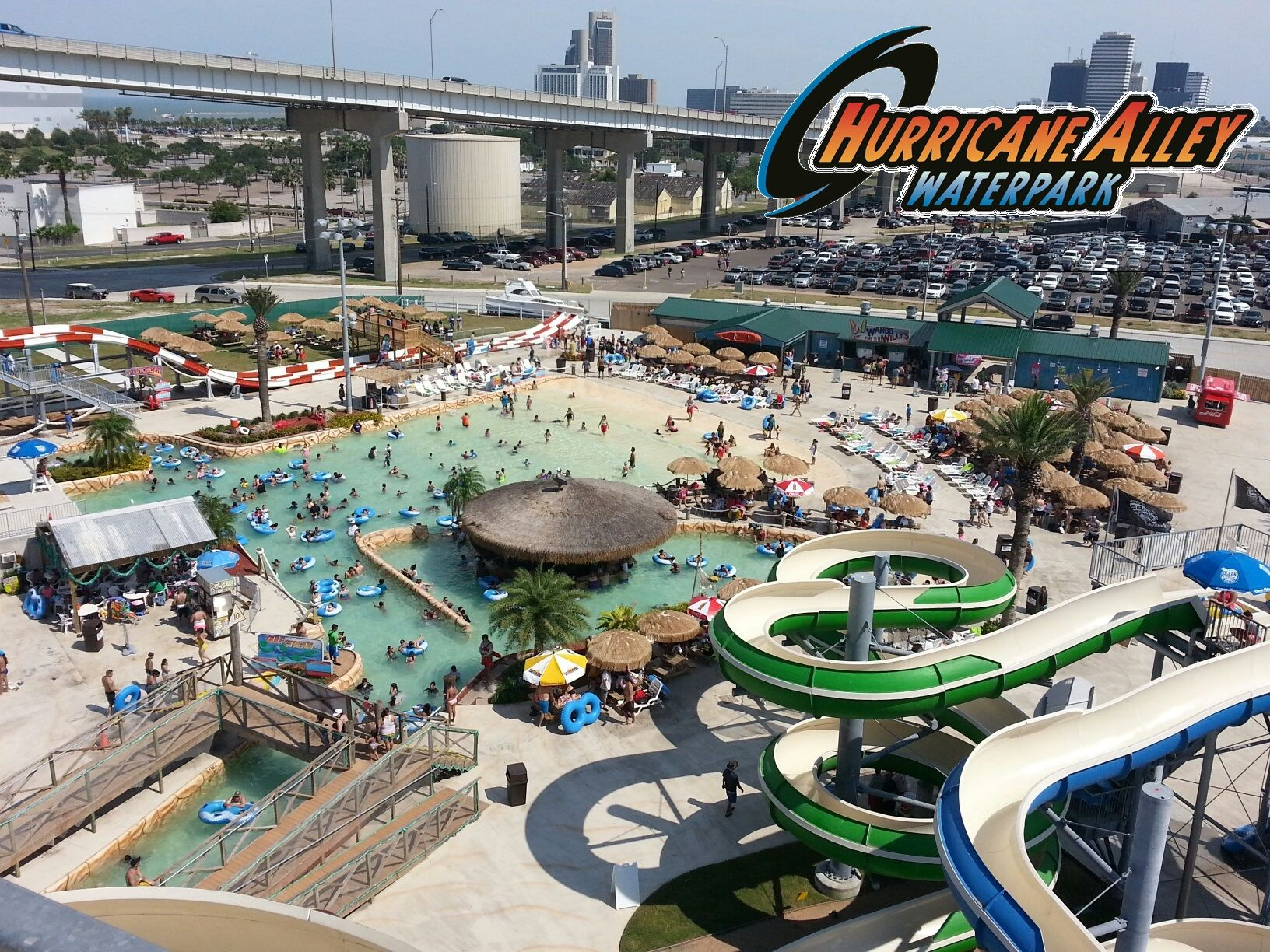 The View From The Top Of Hurricane Alley Waterpark S Cat5 It Is Out 6 Story Waterslide Sure To Give You A Thrill Hacctx Hu Water Park Trip Hurricane Alley