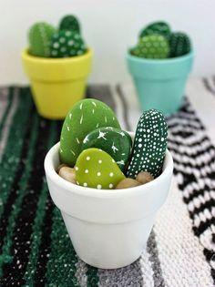 Statt Blumen Einfach Mal Einen Selbstgemachten Kaktus-topf ... Garage Dekoration Mit Blume