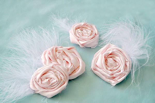 DIY Rose Hair Pin. #hairpin #flowers #rosette