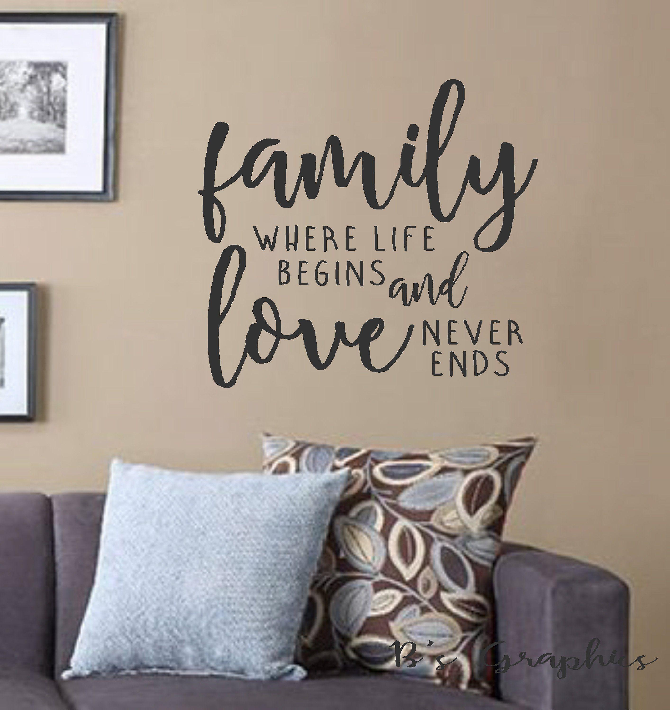 Home where life begins Wall Art vertical version