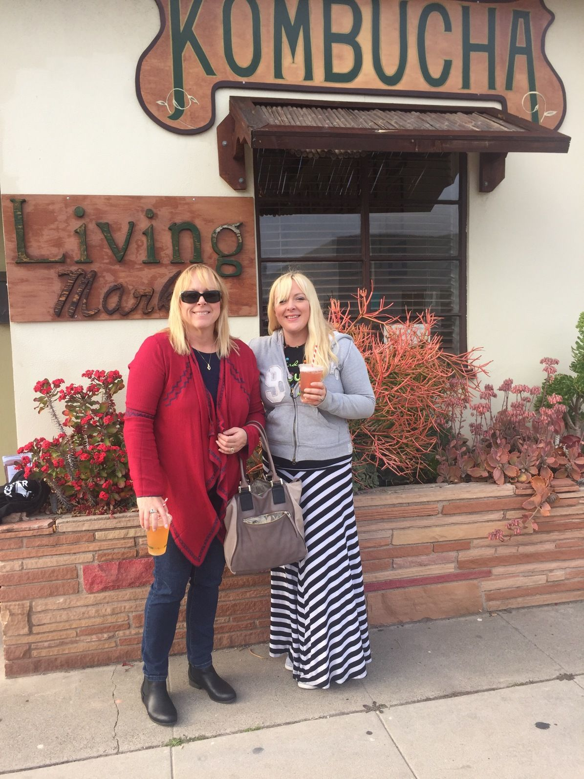 my daughter maci and i visit living tea brewing co in oceanside