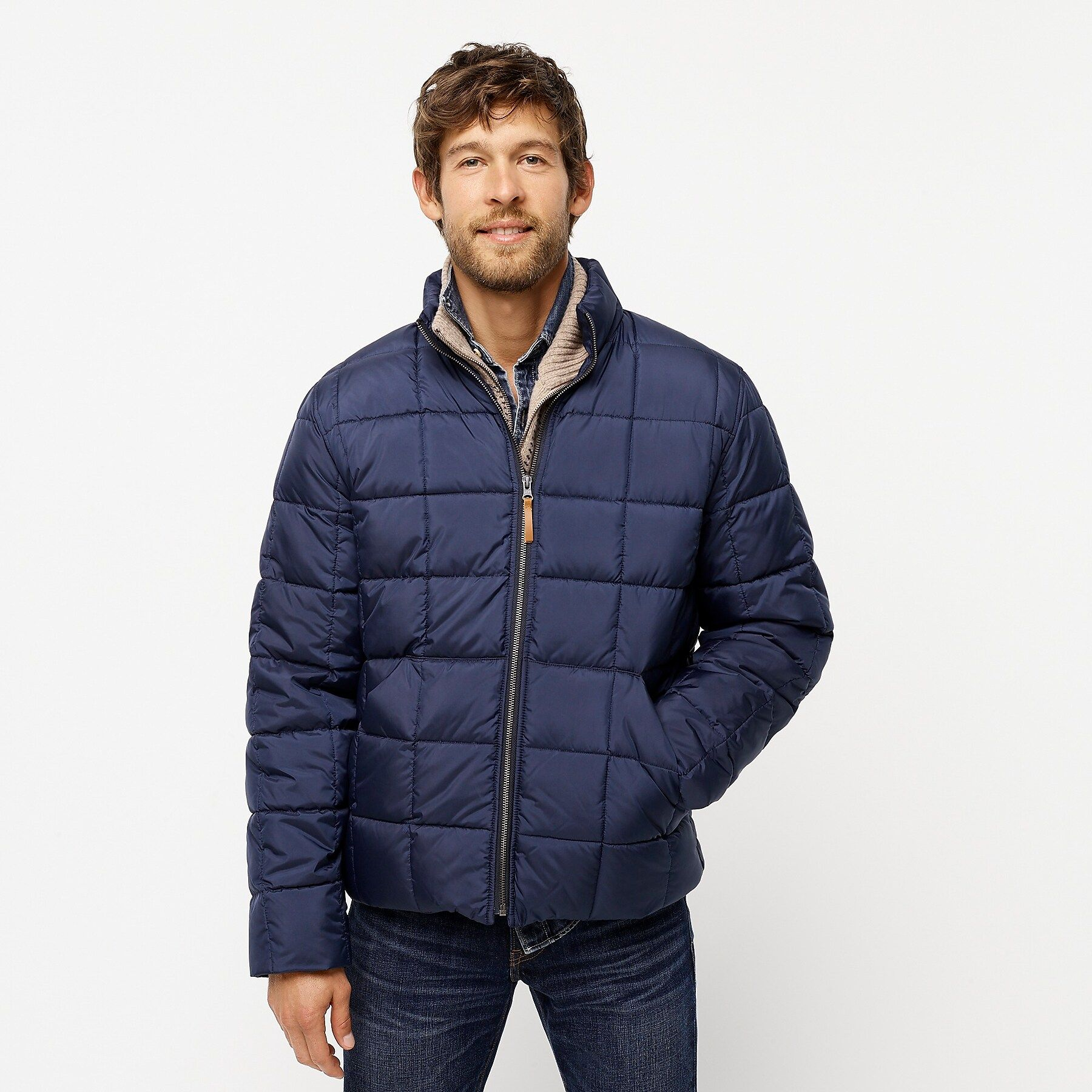 J Crew Box Quilted Jacket With Eco Friendly Primaloft Quilted Jacket Jackets Crew Clothing [ 1800 x 1800 Pixel ]