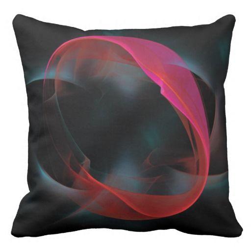 Fractal pattern throw pillow