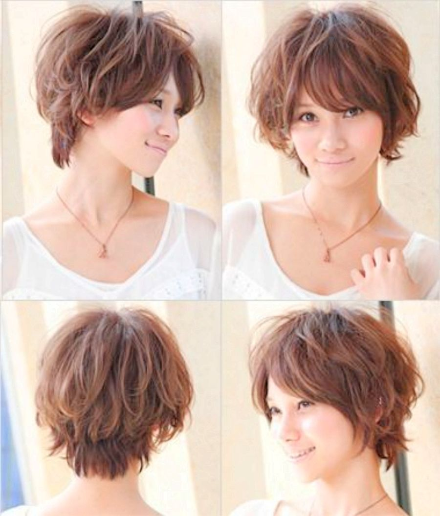 Curly Short Haircut For Round Faces Curly Hair For Round Face With