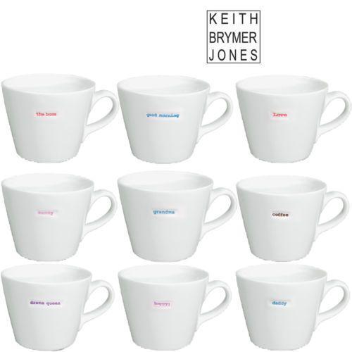 Word Range Bucket Mug By Keith Brymer Jones Choice Of 9 Options Mugs Coffee Tea Builders Tea