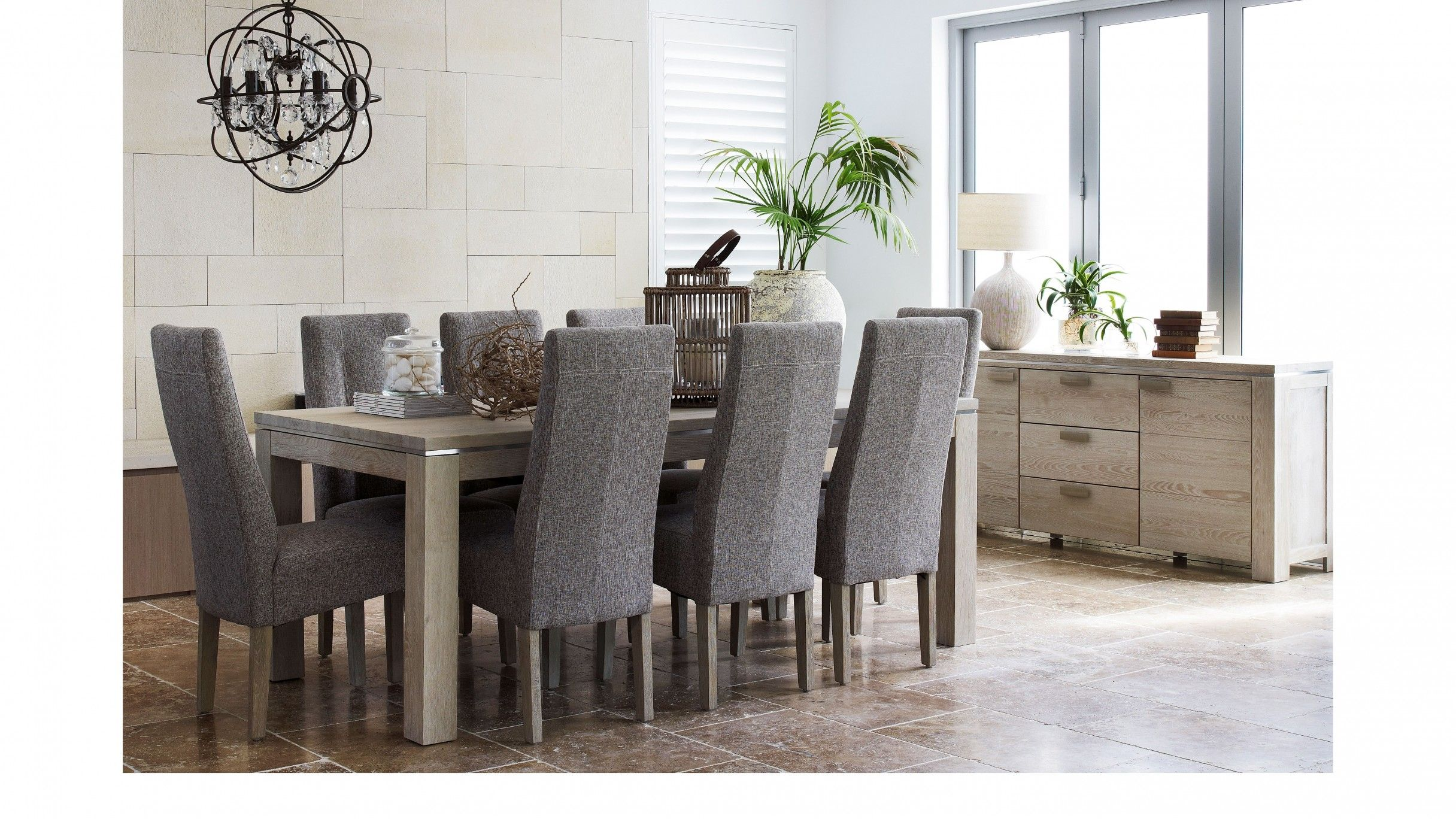 Harvey Norman Sentosa 9 Piece Extension Dining Suite Dream