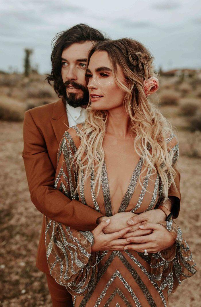 This Rose Gold Joshua Tree Wedding Inspiration is Like a Boho Glam Fever Dream