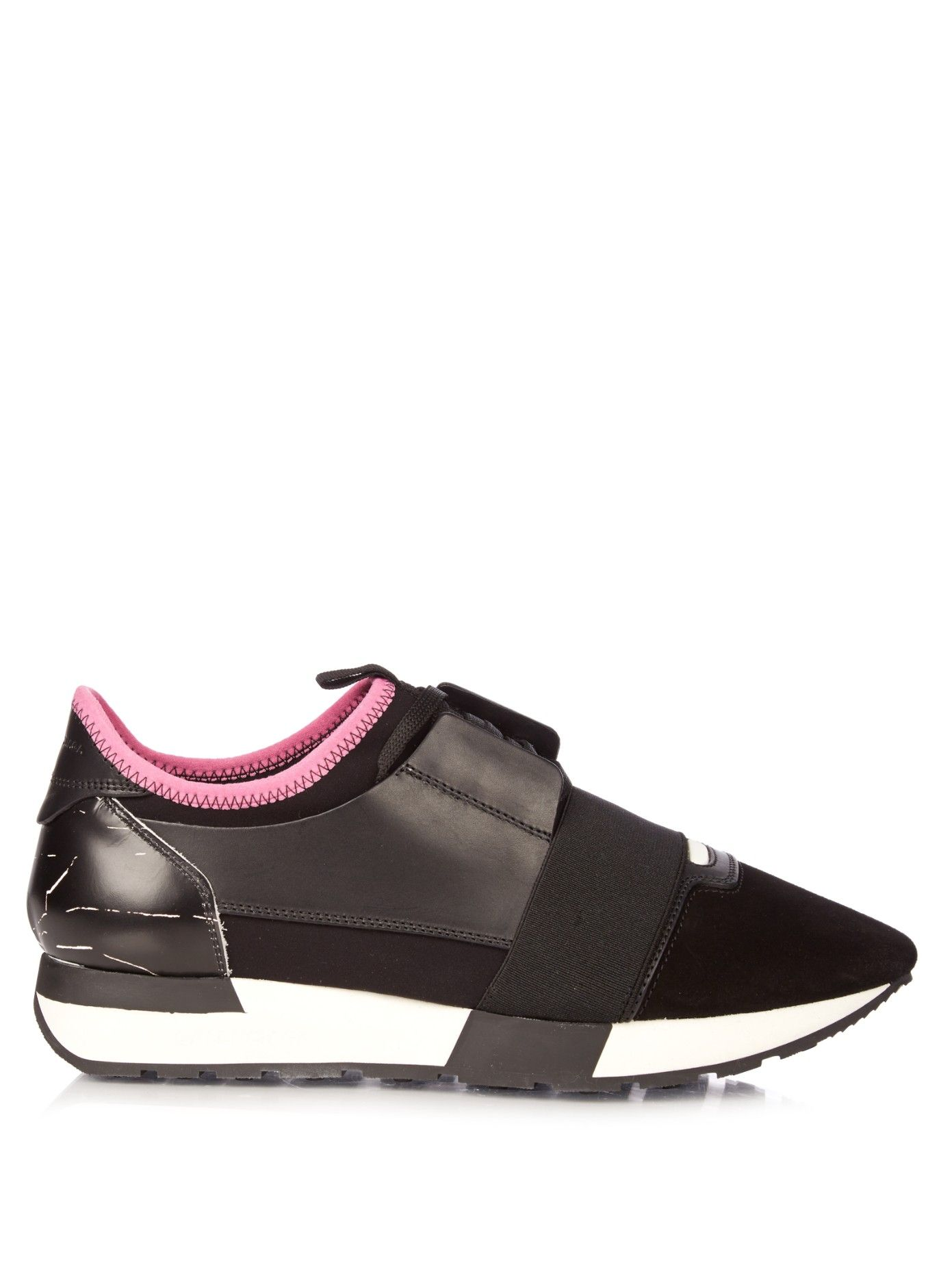Race multi-panel low-top trainers  0aa9bd6bc