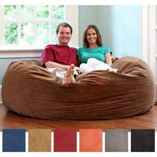 FufSack Memory Foam Microfiber 6-foot XL Bean Bag Chair | Overstock.com Shopping - The Best Deals on Bean Bag Chairs