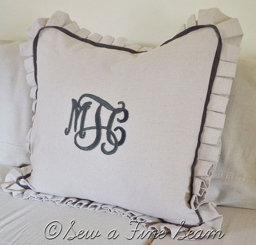 or pillow monogrammed gift custom size anniversary bed king sham wedding decor standard pin