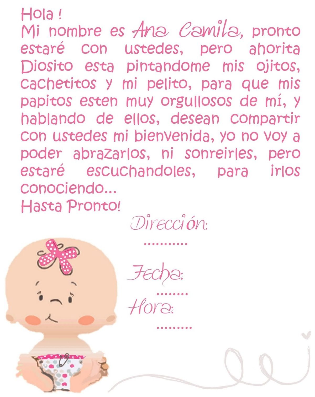 Frases Para Baby Shower Nena : frases, shower, Shower, Invite, Tarjetas, Shower,, Invitaciones, Baby,, Shawer