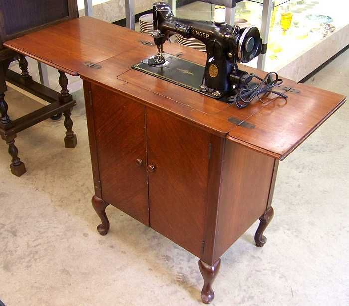 Vintage 40 Model 40 Singer Sewing Machine With Parlor Cabinet Classy Singer Sewing Machine Model 201 Value