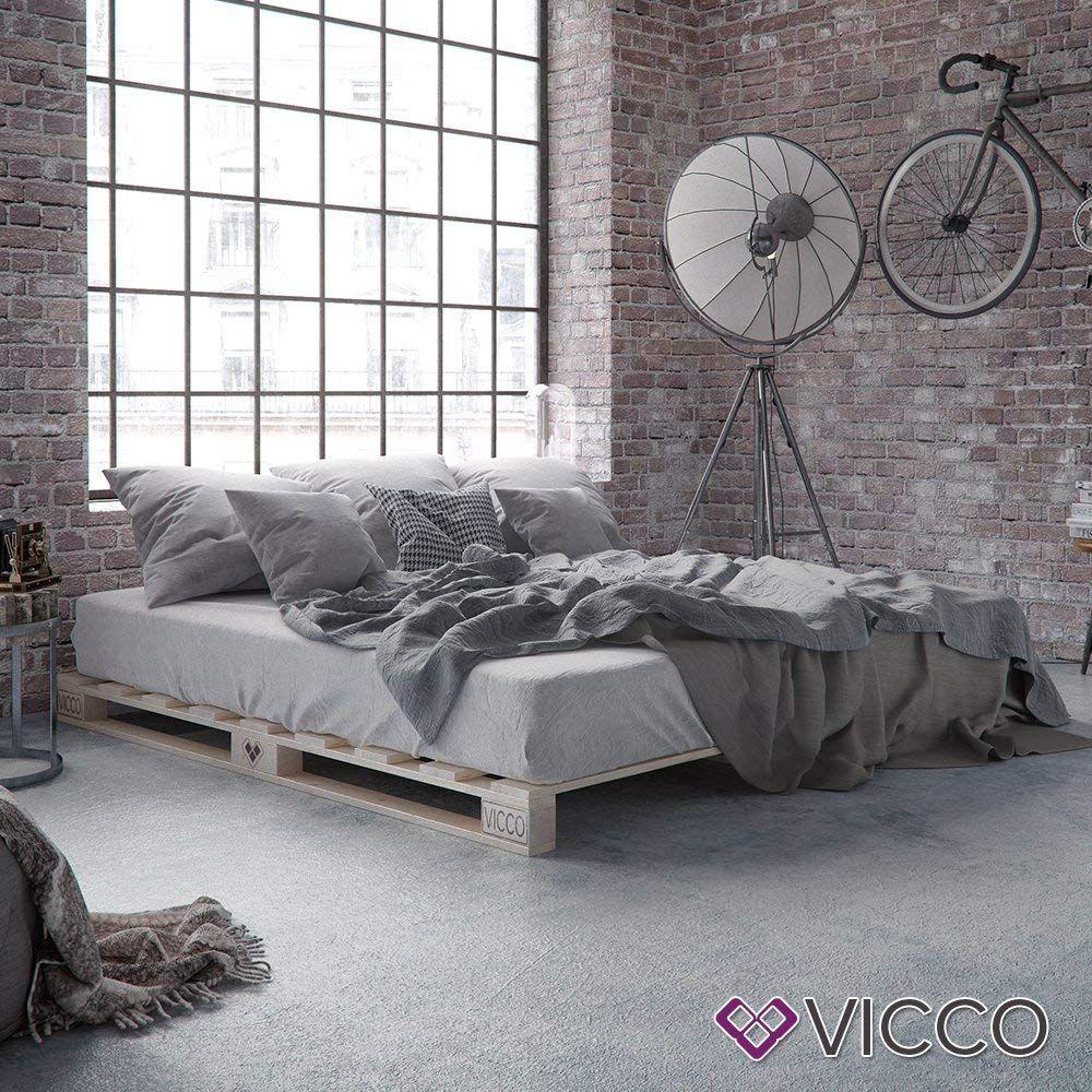 Vicco Palettenbett Bett Holz Massivholzbett 90 100 120 140 160